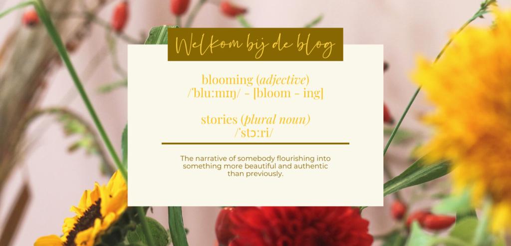 Blooming Stories Blog